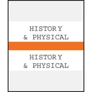Medical Arts Press® Standard Preprinted Chart Divider Tabs; History & Physical, Orange
