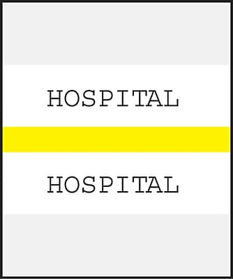 Medical Arts Press Standard Preprinted Chart Divider Tabs; Hospital Yellow