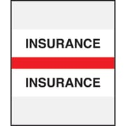 Medical Arts Press® Standard Preprinted Chart Divider Tabs; Insurance, Red