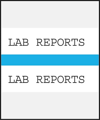 Medical Arts Press Standard Preprinted Chart Divider Tabs; Lab Reports Light Blue