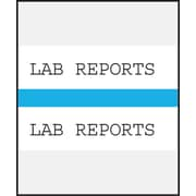Medical Arts Press® Standard Preprinted Chart Divider Tabs; Lab Reports, Light Blue