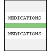 Medical Arts Press® Standard Preprinted Chart Divider Tabs; Medications, Light Green