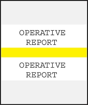 Medical Arts Press Standard Preprinted Chart Divider Tabs; Operative Report Yellow
