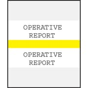 Medical Arts Press® Standard Preprinted Chart Divider Tabs; Operative Report, Yellow