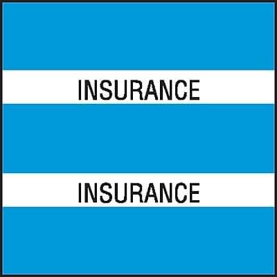 Medical Arts Press Chart Divider Tabs; Insurance Lt. Blue