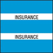 Medical Arts Press® Chart Divider Tabs; Insurance, Lt. Blue