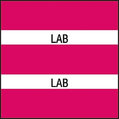 Medical Arts Press Chart Divider Tabs; Lab Magenta