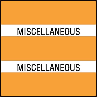 Medical Arts Press Chart Divider Tabs; Miscellaneous Orange