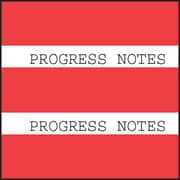 Medical Arts Press® Large Chart Divider Tabs; Progress Notes, Red