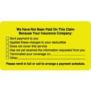 """Patient Insurance Labels; No Payment Checklist, Fl Chartreuse, 1-3/4x3-1/4"""", 500 Labels"""