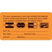 "Reminder & Thank You Collection Labels; Transfer Balance, Fl Orange, 1-3/4x3-1/4"", 250 Labels"