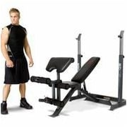 Marcy 2 Piece Mid Adjustable Olympic Bench
