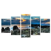 Ready2hangart 'Sun Rise' by Bruce Bain 5 Piece Photographic Print on Wrapped Canvas Set