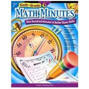 Creative Teaching Press Grade 6 Math Minutes Book