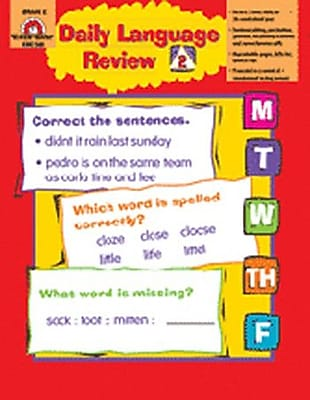 Evan-Moor Daily Language Review Grade 2 Book