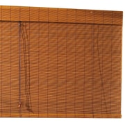 Radiance Imperial Matchstick Bamboo Roll-Up Blind with 6'' Valance in Fruitwood;  96'' W x 72'' L
