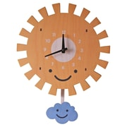 Modern Moose 10'' Sun Pendulum Wall Clock