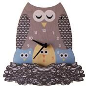 Modern Moose Nest Owl Wall Clock