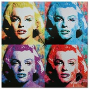 Metal Art Studio 'Marilyn Monroe' Colorful Urban Pop Art Wall Clock