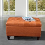 NOYA USA Storage Bedroom Bench; Saddle Brown
