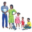 Little Folks Visuals African-american Family Pre-cut