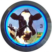 Neonetics Retro 15'' Cow Wall Clock
