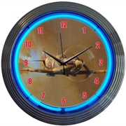 Neonetics Retro 15'' WWII Spitfire Airplane Wall Clock
