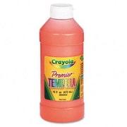 Crayola Premier Tempera Paint, Orange, 16 Ounces