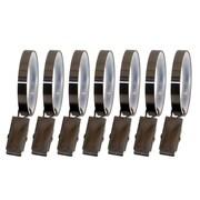 Versailles Home Fashions Lexington Flat Clip Curtain Ring (Set of 7); Gun Metal Grey