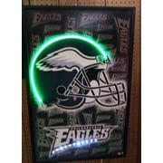 Neonetics Football Helmet Neon LED Framed Vintage Advertisement; Philadelphia Eagles