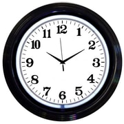 Neonetics Bar and Game Room 15'' Wall Clock; Black and White