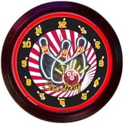 Neonetics Bar and Game Room 15'' Bowling Wall Clock