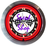 Neonetics Cars and Motorcycles 15'' Speed Shop Wall Clock