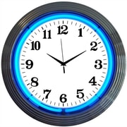 Neonetics Bar and Game Room 15'' Wall Clock; Blue