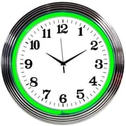 Neonetics Bar and Game Room 15'' Wall Clock; Green