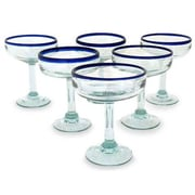 Novica Javier and Efren Artisan Happy Hour Margarita Glass (Set of 6)