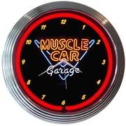 Neonetics 15'' Muscle Car Garage Wall Clock