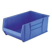 Akro Mils Super-Size Storage Bin, Stackable, Blue, 2 Sizes; 18-1/2''x29-1/4''x12''