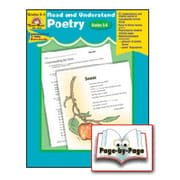 Evan-Moor Read and Understand Poetry Grade 5-6 Book