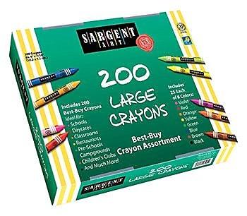 Sargent Art Inc Sargent Art Large Crayons 200 Large WYF078276517601