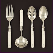 Ginkgo Stainless Steel LePrix 4 Piece Hostess Set; White