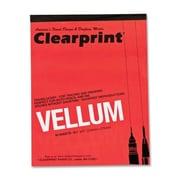 ClearPrint Translucent Vellum, 16 lb., 8-1/2''x11'', 50 Sheets, Translucent