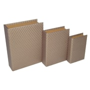 Cheungs 3 Piece Stitchwork Vinyl Book Box Set; Bronze