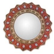 Novica Ruby Medallion Wall Mirror
