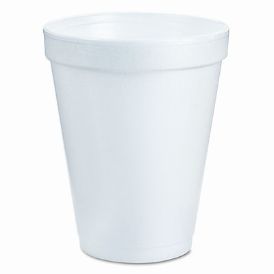 Dart Container Corp. Drink Foam Cups, Six Ounces, White, 40 Bags of 25 Per Carton WYF078277504153