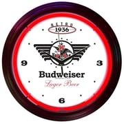 Neonetics Drinks 15'' Retro Budweiser Wall Clock