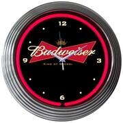 Neonetics 15'' Budweiser Bowtie Wall Clock