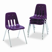 Virco 9000 Series 18'' Plastic Classroom Chair  (Set of 4); Wine