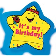 Creative Teaching Press Star Badges Its My Birthday Award