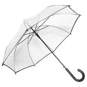 Elite Rain Auto-Open Clear Umbrella; Black